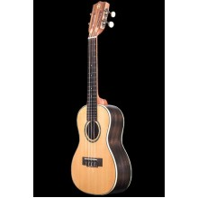 Ohana CK-70R Solid Top Rosewood B&S Satin Fin Concert Ukulele, Slotted Headstock