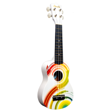 Amahi DDUK7 Tropical Series Soprano Size Ukulele with Gig Bag - Psychadelic