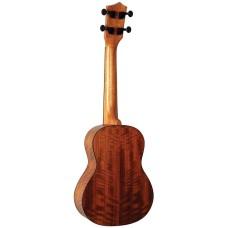 Eddy Finn Model EF-28-C Concert Size All Koa Sharkfin Soundhole Acoustic Ukulele