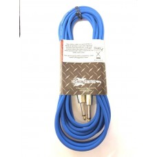 """Effin Guitars FNG20/CBL Blue 20 Foot 1/4"""" Jack Professional Instrument Cable"""