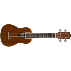 Fender Model Seaside Soprano Size Satin Finish Mahogany Ukulele - Demo