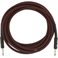 Fender® 15' Professional Series Red Tweed Instrument Cable #0990820064 - 15 ft