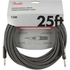 Fender® 25' Professional Series Gray Tweed Instrument Cable #0990820071 - 25FT.