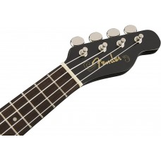 Fender California Coast Series Soprano Size Venice Black Finish Ukulele - NEW