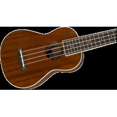 Fender California Coast Series Soprano Size Seaside Mahogany Ukulele - NEW