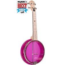 Gold Tone Little Gem Amethyst Clear Concert Banjolele Banjo Ukulele with Gig Bag