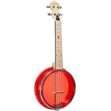 Gold Tone Little Gem Ruby Clear Concert Banjolele Banjo Ukulele  with Gig Bag