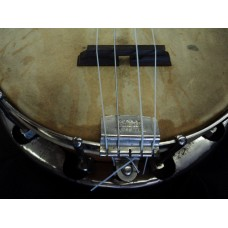 """Antique """"Sterling"""" Banjolele made by Tonk Brothers of Chicago , Il. with case"""