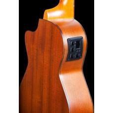 Ohana CK-35CE All Solid Mahogany Cutaway Electric Acoustic Ukulele w/Bag - DEMO