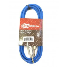 Effin Guitars FNG10CBL Blue 10 Foot Pro Guitar Cable with Noise Free Connectors