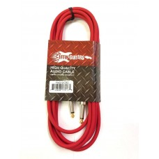Effin Guitars FNG10CRD Red 10 Foot Pro Guitar Cable with Noise Free Connectors