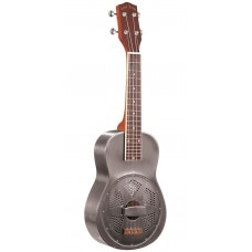 Gold Tone ResoUke Tenor Scale Brushed Metal Resonator Ukulele with Case - NEW