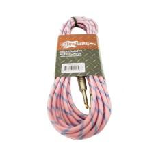 """Effin Guitars FNG20VTPK - 20FT 1/4"""" Pink Vintage Tweed Instrument Cable - NEW"""