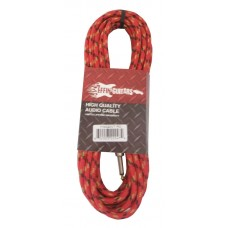 """Effin Guitars FNG20VTRD - 20FT 1/4"""" Red Vintage Tweed Instrument Cable - NEW"""