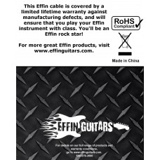 """Effin Guitars Model FNG10DL 10FT 1/4"""" Jack Deluxe Instrument or Amp Cable - NEW"""