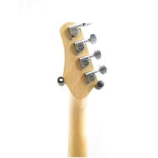Effin Guitars model UKESTART/B solid body Electric Ukulele in a Black Finish
