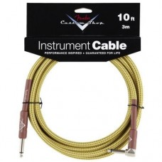 Fender 10' Custom Shop Tweed Instrument Cable Straight/Angled #0990820029