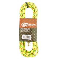 """Effin Guitars FNG20VTYL - 20FT 1/4"""" Yellow Vintage Tweed Instrument Cable - NEW"""