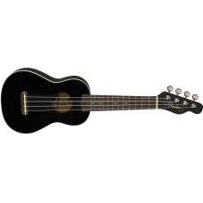 Fender California Venice Series Soprano Size Ukulele in Black Finish #0971610506