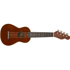 Fender Venice Model Natural Finish California Coast Soprano Ukulele - DEMO
