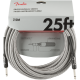 Fender® 25' Professional Series White Tweed Instrument Cable #0990820072 -